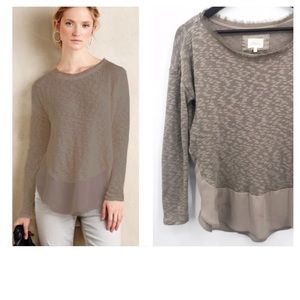 💛 Anthropologie Deletta Nubby Circle Tee Sweater